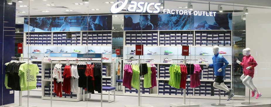 factory outlet asics 49fs  ASICS opens its first factory outlet in Changi City Point